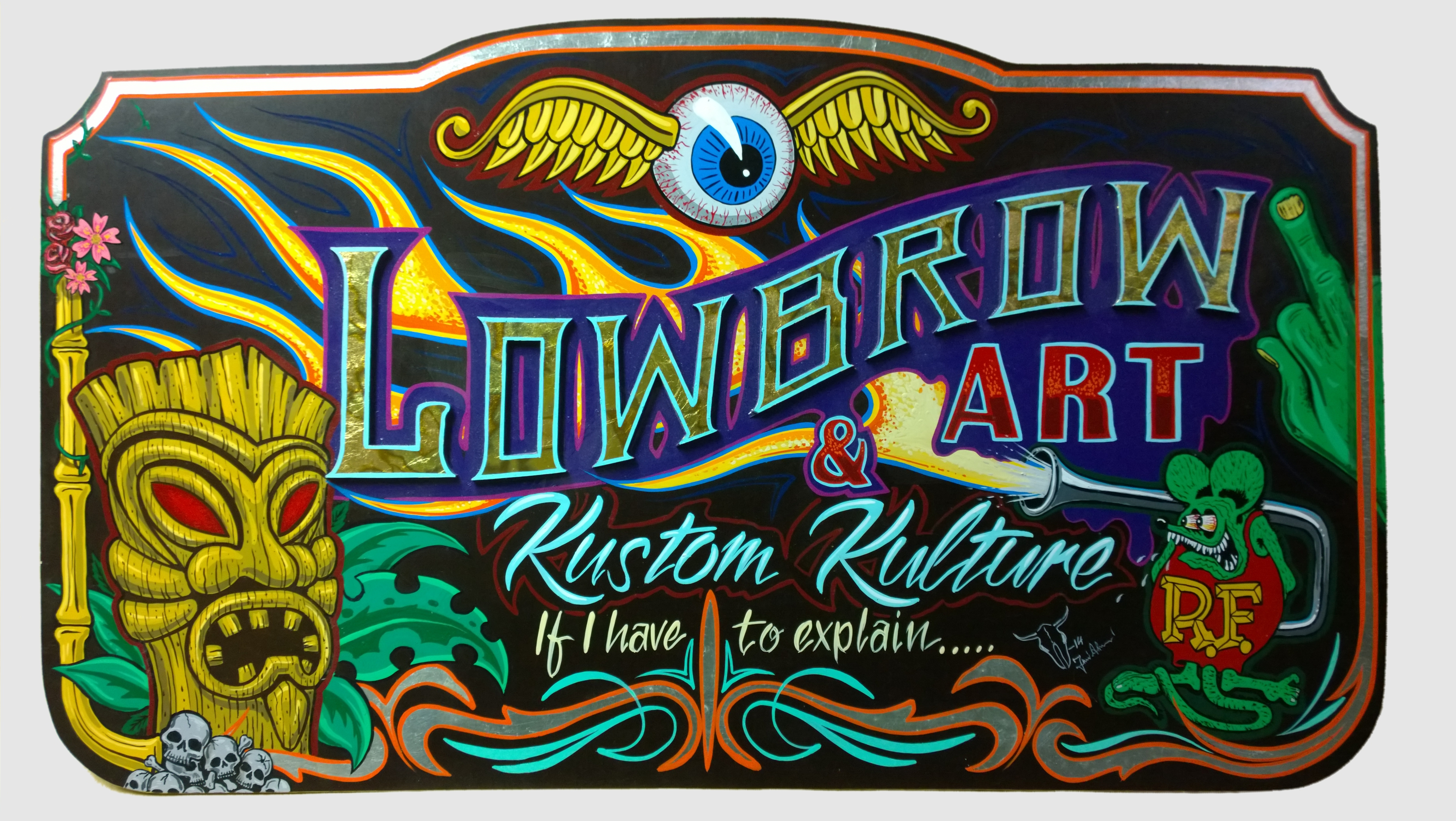 Jussi Alasalmi, a reference panel for the Kustom Kulture and Low Brow Art workshop in February 2014